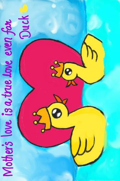 mother's love bw ducks   Aishwarya_Arts   Digital Drawing   PENUP