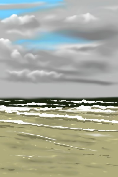 Windy day at an empty beach | AntoineKhanji | Digital Drawing | PENUP