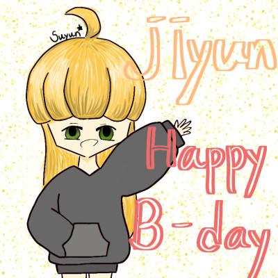 jiyun  Happy birthday >< | suyun | Digital Drawing | PENUP