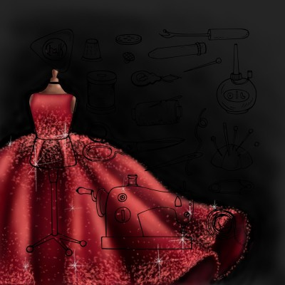 Red dress | Amila | Digital Drawing | PENUP
