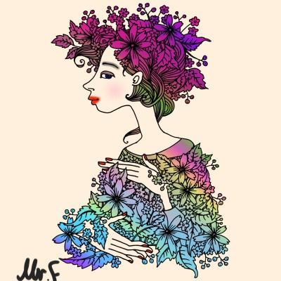 Coloring Digital Drawing | FarzaD | PENUP