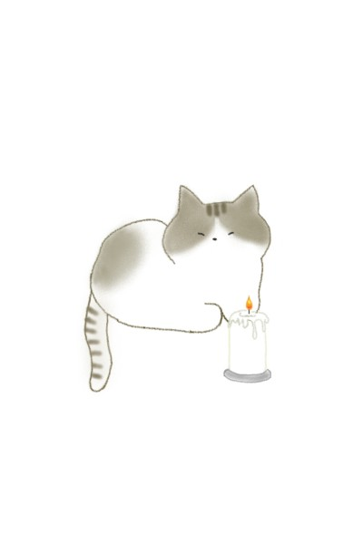 Cat and Candle   -Lucy-   Digital Drawing   PENUP