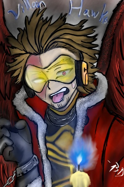 Villain Hawks Vs Dabi's Flame | Dragon_Halfling | Digital Drawing | PENUP