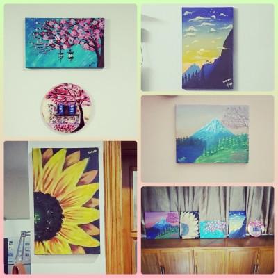 My canvas paintings | SkSadiah_Afreen | Digital Drawing | PENUP