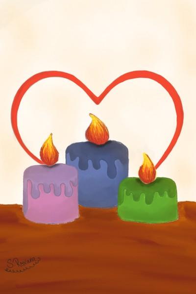 Candles full of Love | S.Roxana | Digital Drawing | PENUP