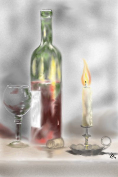 Wine and Candle | TeeTee | Digital Drawing | PENUP