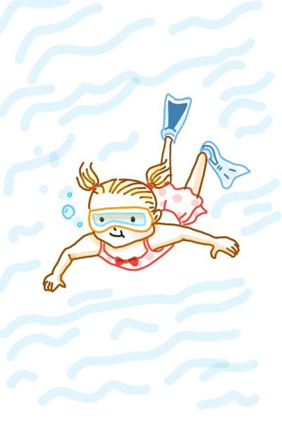 Little diver  | Sylvia | Digital Drawing | PENUP