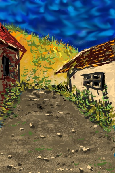 Village houses | AntoineKhanji | Digital Drawing | PENUP