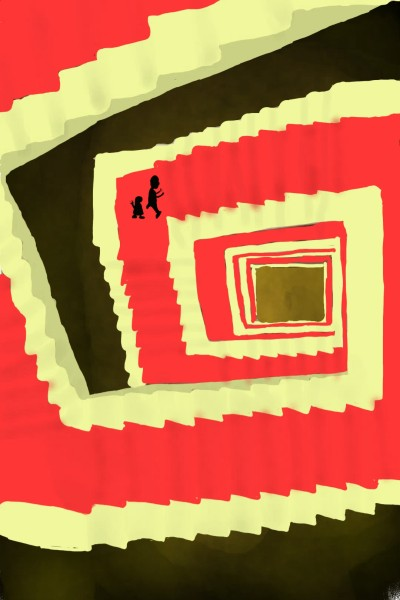 Stairs in the sky on the stairs are   persons | Gusi | Digital Drawing | PENUP
