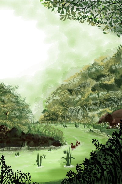 a Picnic path | Dexter | Digital Drawing | PENUP