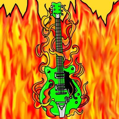 Rock Guitar, Runs A Little Hot....    Bekkie   Digital Drawing   PENUP