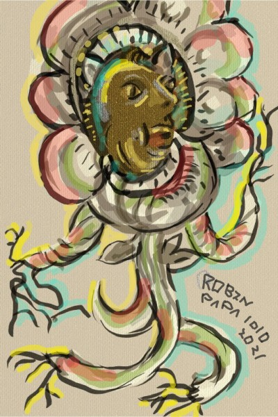Jumping Flower : Brown face | RobinPAPA | Digital Drawing | PENUP