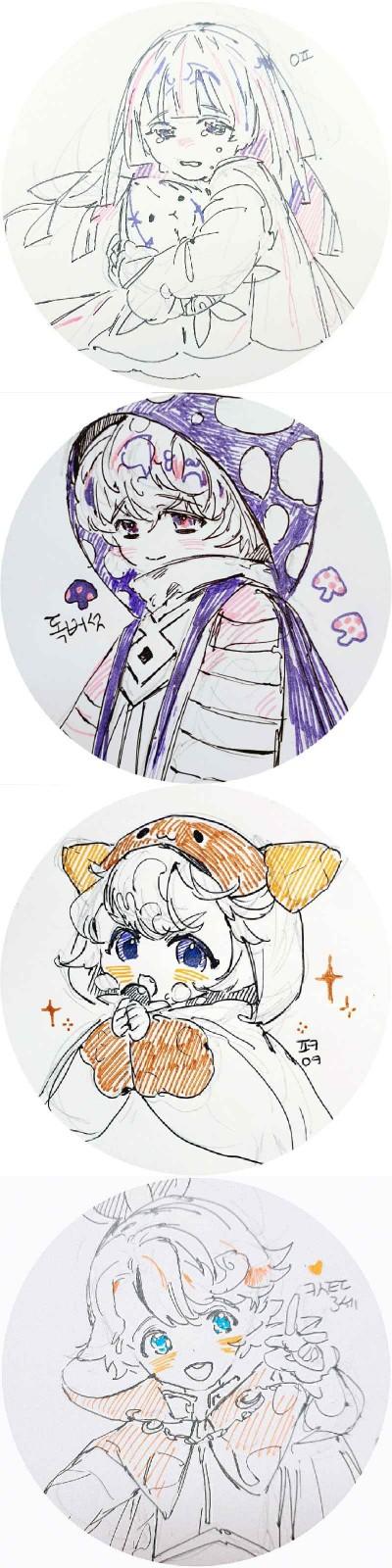 쿠킹덤 귀요미4인조 | Han | Digital Drawing | PENUP
