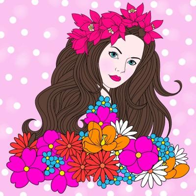 Coloring Digital Drawing | Barbie | PENUP