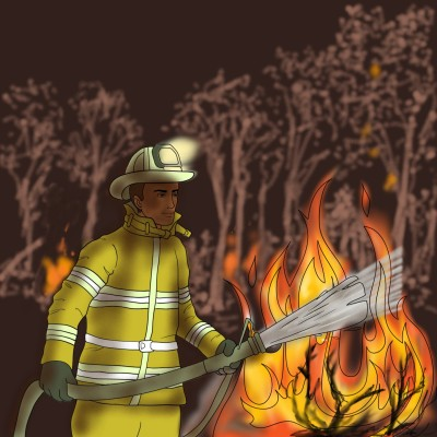 Bushfire  | jenart | Digital Drawing | PENUP