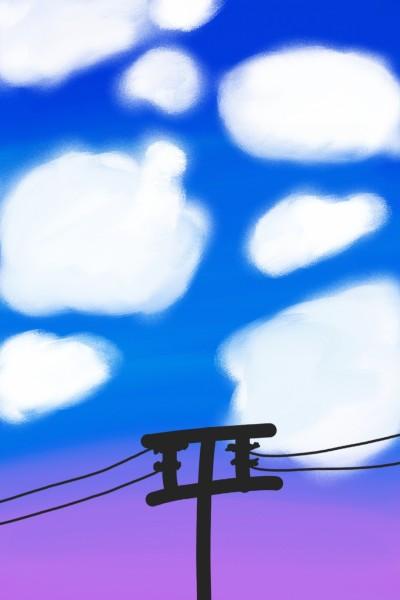 Cloudy sky | Mokoshla | Digital Drawing | PENUP