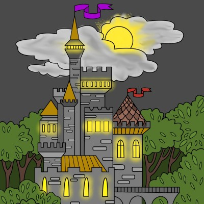 Castle @ Night   cptpebkac   Digital Drawing   PENUP