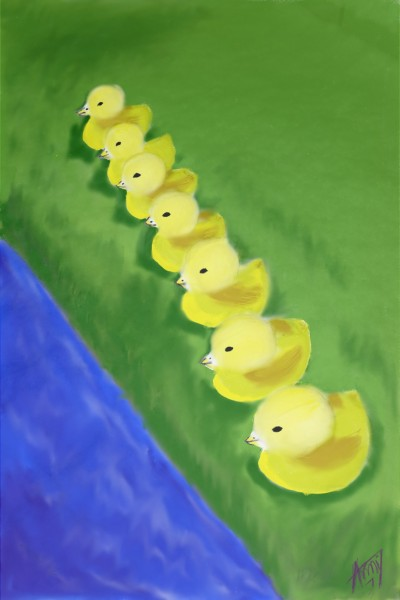 7 Sweet Ducklings    amy7613   Digital Drawing   PENUP