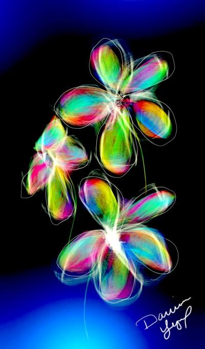 Interesting Neon Floral Thing | missdarrian | Digital Drawing | PENUP