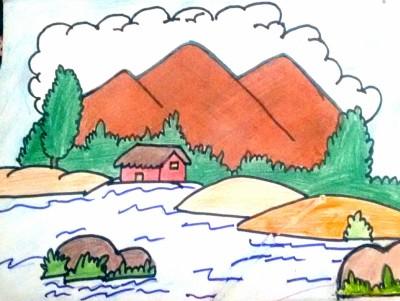 landscape ❤️❤ | shreya | Digital Drawing | PENUP