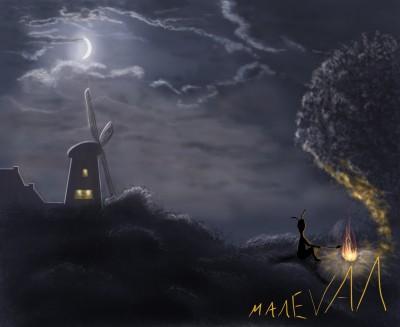 Disturbing Evening.   maleval_sam   Digital Drawing   PENUP