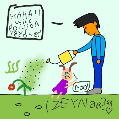 Steve is poisiong his kid's flower!!!! | Izeyneb341_Love | Digital Drawing | PENUP