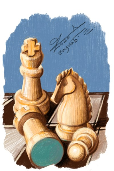 my artwork chess board  | Zaynab | Digital Drawing | PENUP