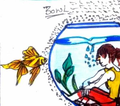 Girl in fish bowl | shreya | Digital Drawing | PENUP