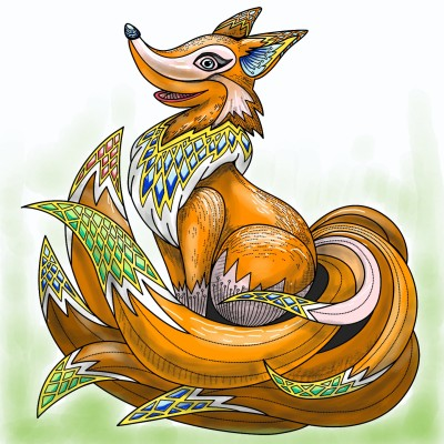 7 tailed fox | absolute | Digital Drawing | PENUP