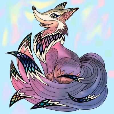 روباه رنگی | HeliSama | Digital Drawing | PENUP