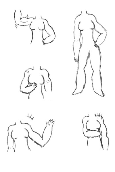 Practicing stylized bodies | inky | Digital Drawing | PENUP