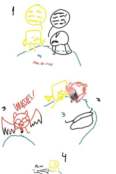 Lasagna, Eyemask, & Devil | Kyra1st | Digital Drawing | PENUP