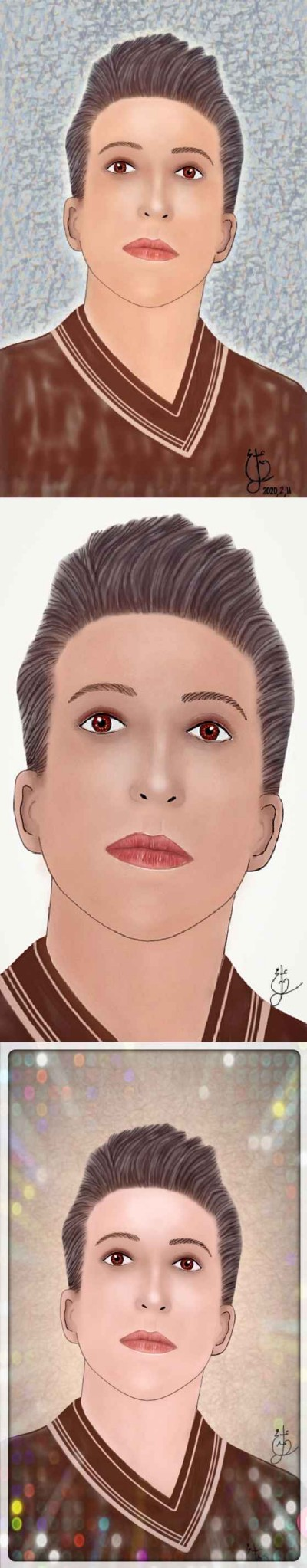 The first face work of my own face   _mamol_slh_   Digital Drawing   PENUP