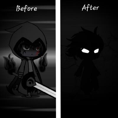 Shadow Before vs Shadow After    Snaski   Digital Drawing   PENUP