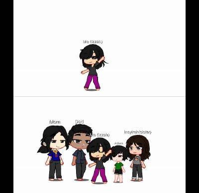 my family photo but gacha | .Xx_galaxy_xX. | Digital Drawing | PENUP