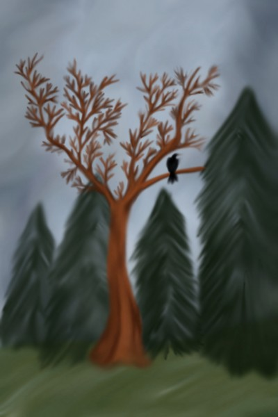 A crow in a tree  | Veronica | Digital Drawing | PENUP
