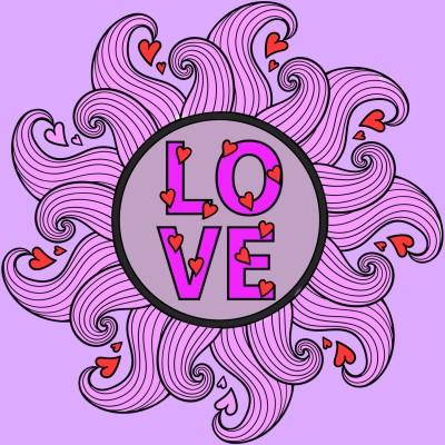 Coloring Digital Drawing   Love_14   PENUP