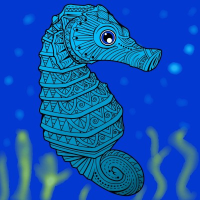 cavalo marinho | Fafa | Digital Drawing | PENUP