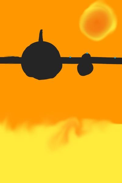 Plane shadow | SAG | Digital Drawing | PENUP