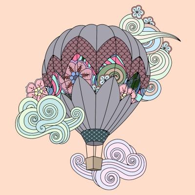 Hot Air Balloon World  | Aetarat | Digital Drawing | PENUP