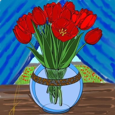 тюльпан   Ihtik   Digital Drawing   PENUP