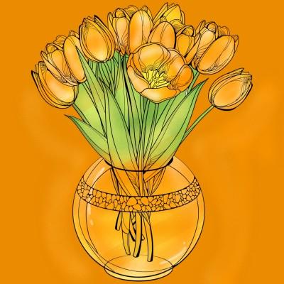 My favorite flower❤ | SaiabdTum | Digital Drawing | PENUP
