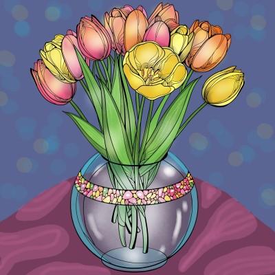 Flower Pot | Sylvia | Digital Drawing | PENUP