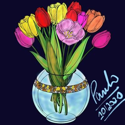 Flores | PauloDornella | Digital Drawing | PENUP