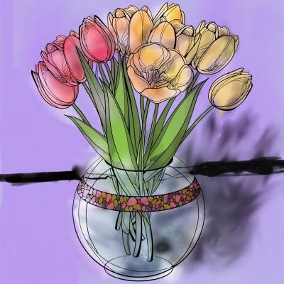 flower. | latenitesketch | Digital Drawing | PENUP