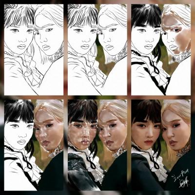 Joy and Wendy ❤️   IREM.Aksoy2   Digital Drawing   PENUP
