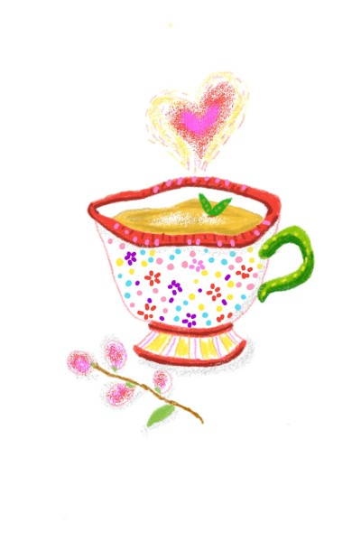 Love in the cup of tea♡♡ | Sylvia | Digital Drawing | PENUP