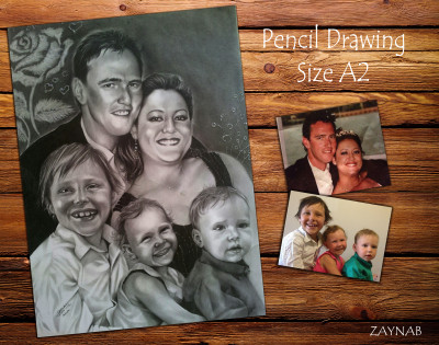pencil drawing in B&W on size A2    Zaynab   Digital Drawing   PENUP