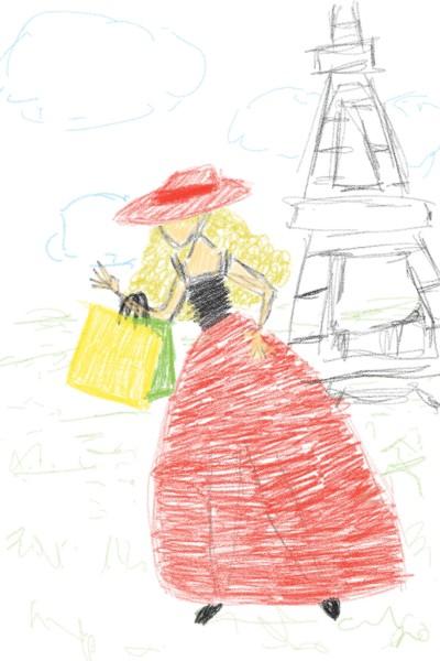 Paris Lady | V_fla | Digital Drawing | PENUP