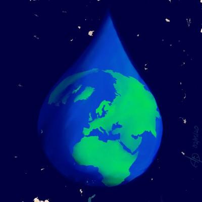 Waterdrop in space | Akeepaki | Digital Drawing | PENUP